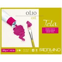 "Блок для акрила и масла 10л. А3 Fabriano ""Tela"", 300г/м2, фактура холста"