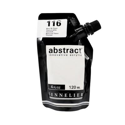 Акриловая краска Abstract, 120 мл, белила титановые