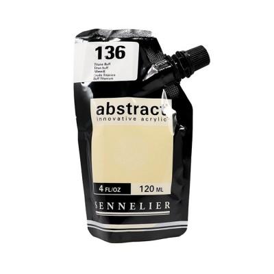 Акриловая краска Abstract, 120 мл, телесный титановый