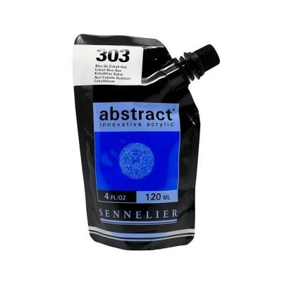 Акриловая краска Abstract, 120 мл, кобальт синий