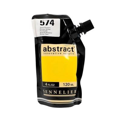 Акриловая краска Abstract, 120 мл, желтый