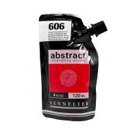 Акриловая краска Abstract, 120 мл, кадмий красный темный
