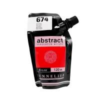 Акриловая краска Abstract, 120 мл, киноварь