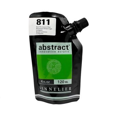 Акриловая краска Abstract, 120 мл, зеленый светлый прочный