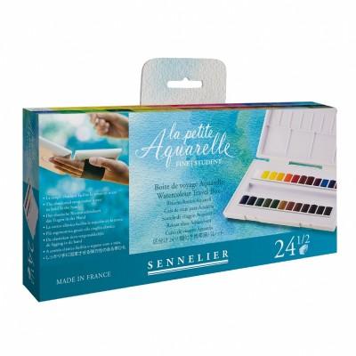 Набор акварели La petite Aquarelle 24 цвета в полукюветах, пластик