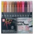 Набор кистевых акварельных маркеров Sakura Koi 24 цвета