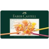 Карандаши цветные художественные Faber-Castell Polychromos 36цв., заточенные в металлической коробке