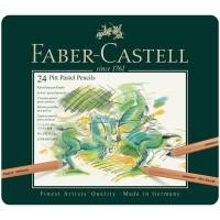 Пастельные карандаши Faber-Castell Pitt Pastel 24 цвета в металлической коробке