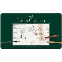 Набор художественных изделий Faber-Castell Pitt Monochrome, 33 предмета в металлической коробке