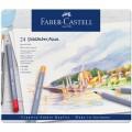 Карандаши акварельные художественные Faber-Castell Goldfaber Aqua, 24 цвета в металлической коробке