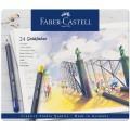 Карандаши цветные Faber-Castell Goldfaber 24цв., круглые, заточенные в металлической коробке