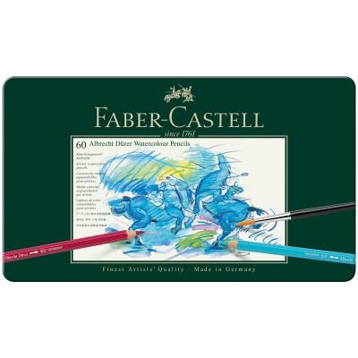 Карандаши акварельные художественные Faber-Castell Albrecht Dürer, 60цв, метал. коробка