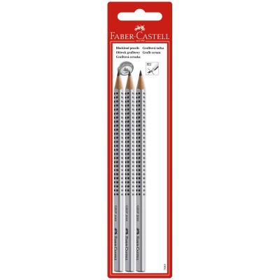 Набор карандашей ч/г Faber-Castell Grip 2001, 3шт., H/HB/2B, заточенные в блистере