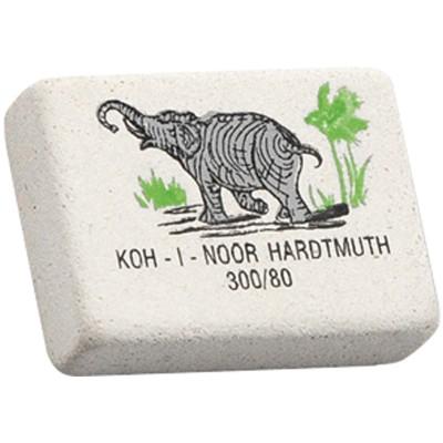 10 ластиков Koh-I-Noor Elephant 300/80, прямоугольный, натуральный каучук, 26*18*8мм
