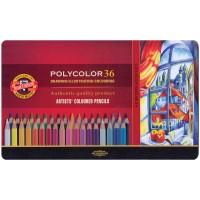 Карандаши Koh-I-Noor PolyColor в металлическом пенале - 36 цветов