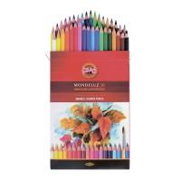 Набор акварельных карандашей Koh-I-Noor Mondeluz, 36 цветов., заточенные, в картонной коробке