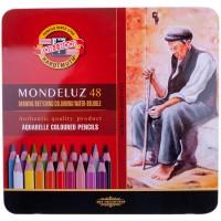 Карандаши акварельные Koh-I-Noor Mondeluz 48 цветов в металлическом пенале