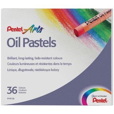Пастель масляная Pentel, 36 цветов, картон. упак.