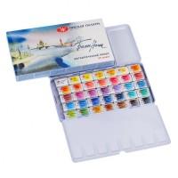 Набор акварельных красок Белые Ночи, 35 цветов в металлическом пенале
