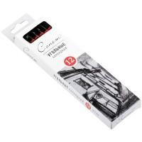 Угольные карандаши Сонет, твердые, 12шт., картон. упак.