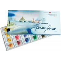 Акварель Белые ночи, художественная, 24 цвета, кювета, картон